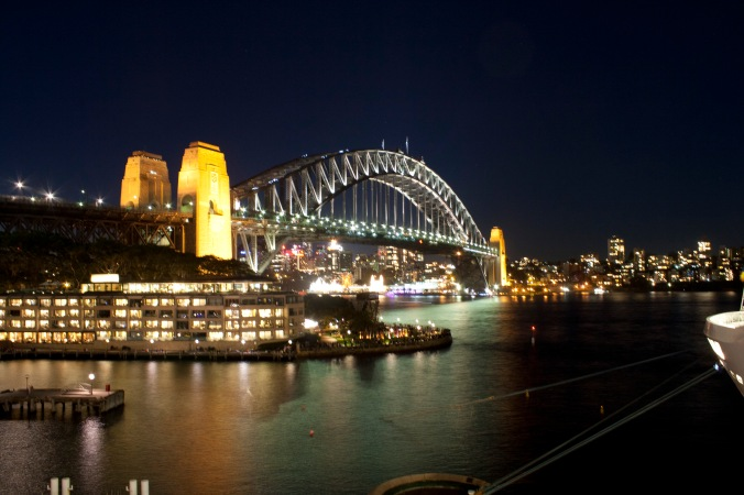 Harbour Bridge from the public viewing platform on top of the Overseas Passenger Terminal.