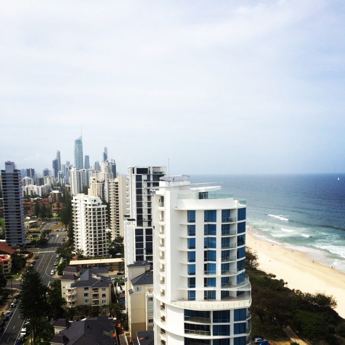 Our view from the apartment we stayed in at Broadbeach.