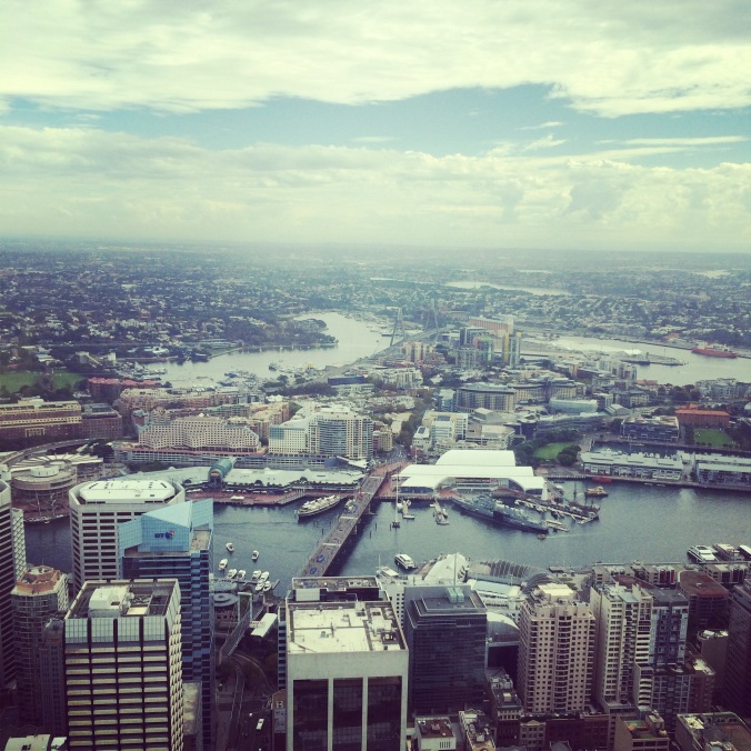 And I went up the Sydney Tower.