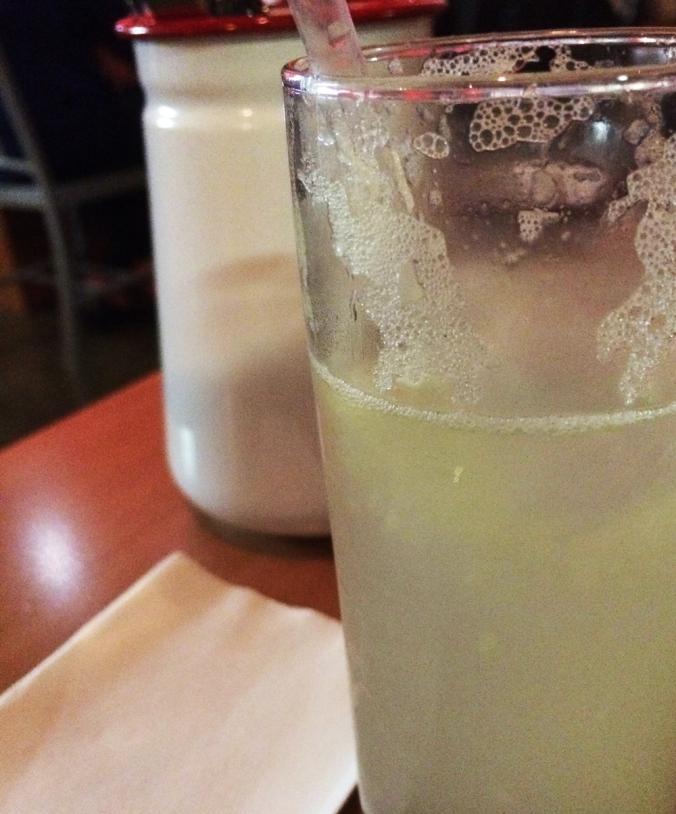 Homemade lemonade. It was delicious.