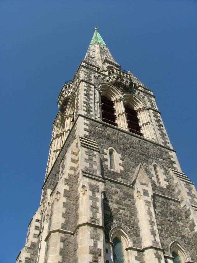 The cathedral spire photographed October 2010.