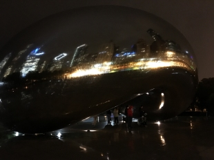 The bean at night (also very wet).